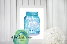 Home Mason Jar Print